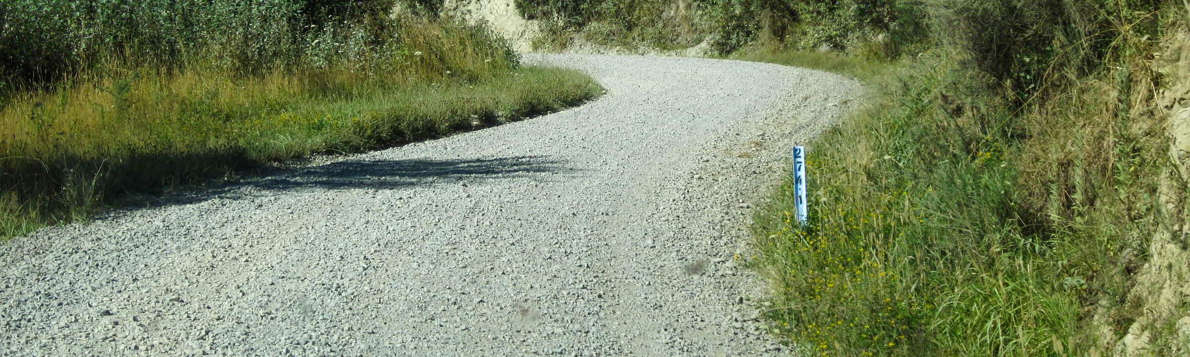 Gravel Road - Schotterpiste - auf Neuseeland