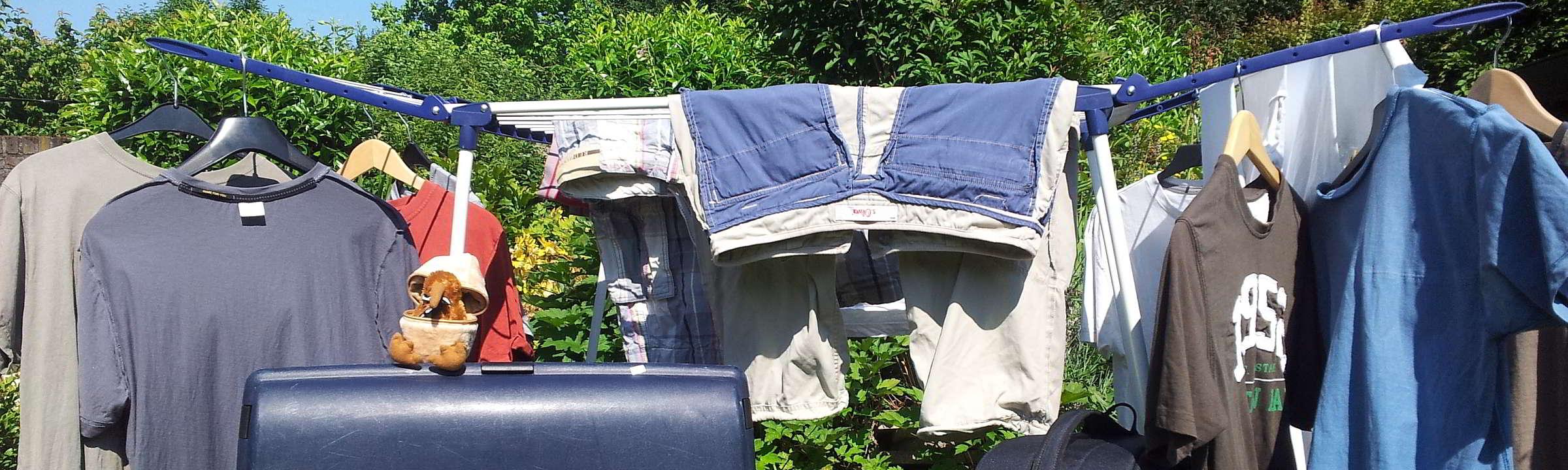 Reisevorbereitungen Neuseeland - Koffer und Klamotten