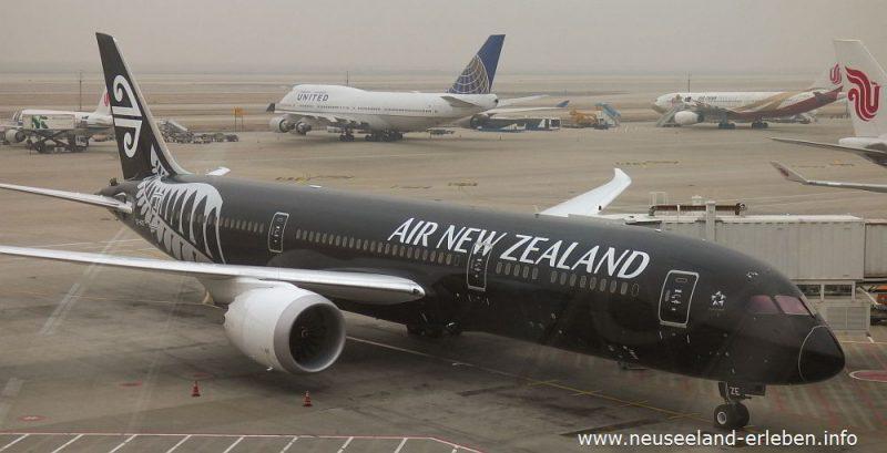 Die All Blacks Maschine von Air New Zealand