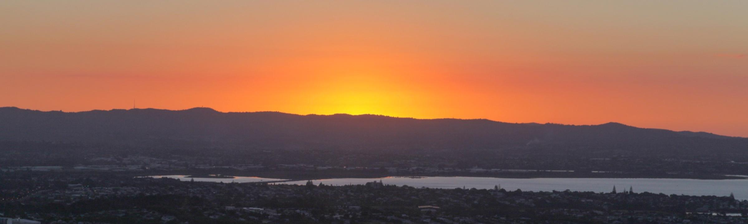 Sonnenuntergang über Auckland Neuseeland