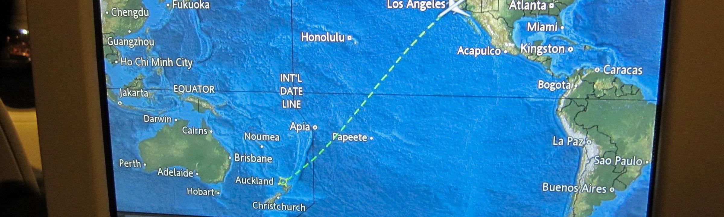 Flug über den Pazifik