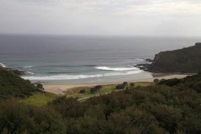 Ausblick auf den Campingplatz Tapotupotu direkt bei Cape Reinga