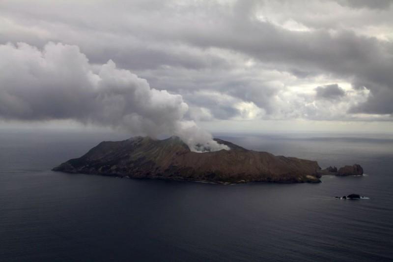 White Island aus der Luft aus gesehen
