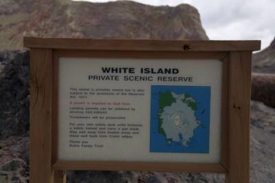 White Island ist Privateigentum
