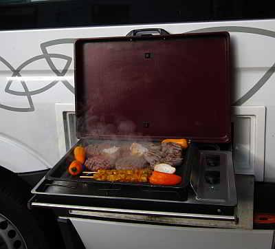 BBQ - ein Außengrill am Wognmobil ist eine tolle Sache!