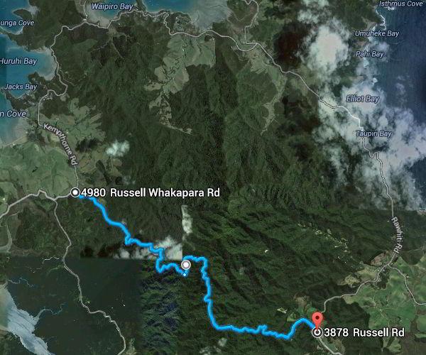 Auf dem Weg nach Russel über die Gravel Road - ein kleines Abenteuer