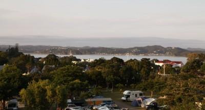 Russell Campingplatz - Sicht zur Bucht