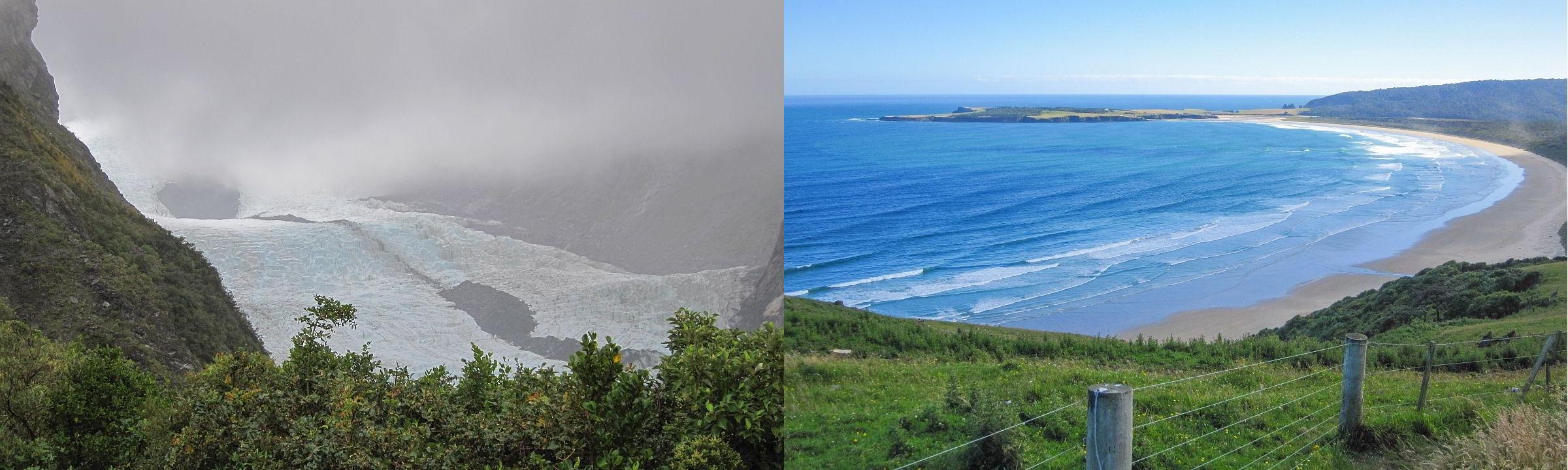 Wetteransichten von Neuseeland