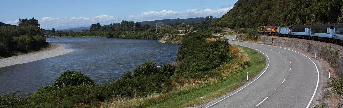 Mit der Eisenbahn unterwegs nach Christchurch