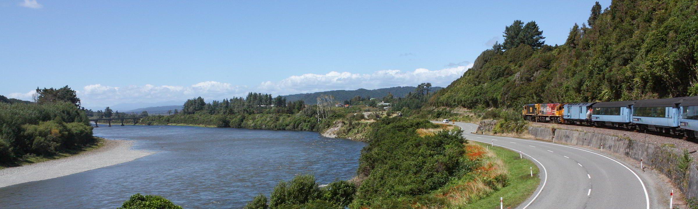 Mit der Eisenbahn auf Neuseeland unterwegs