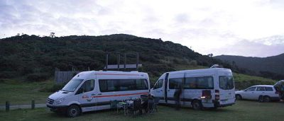 Camper an der Tapotupotu Bay