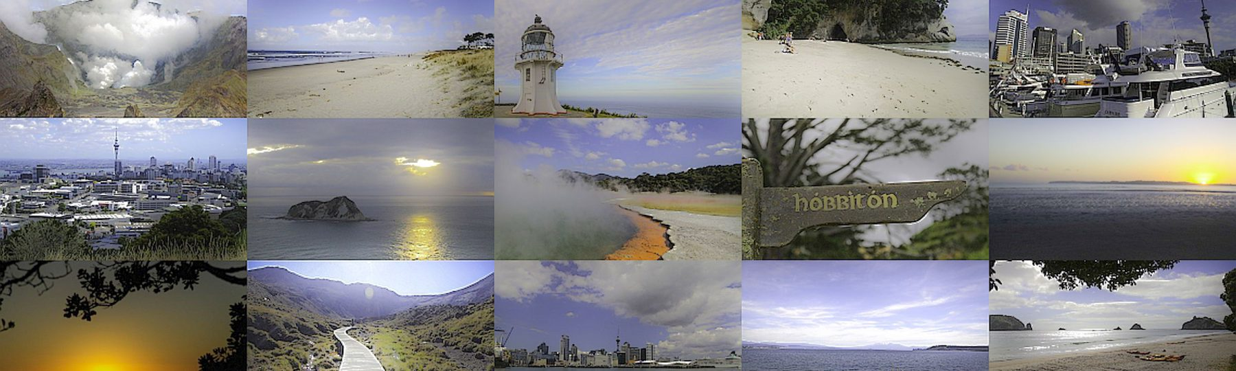 unterschiedliche Fotoansichten aus Neuseeland