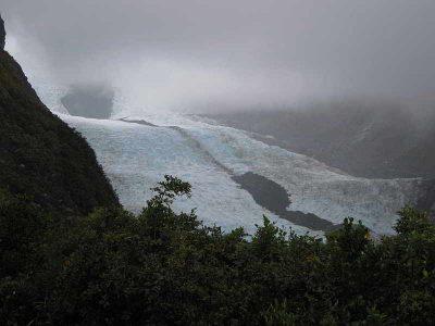 Vom LookOut des TRacks - Blick auf den Franz-Josef Gletscher