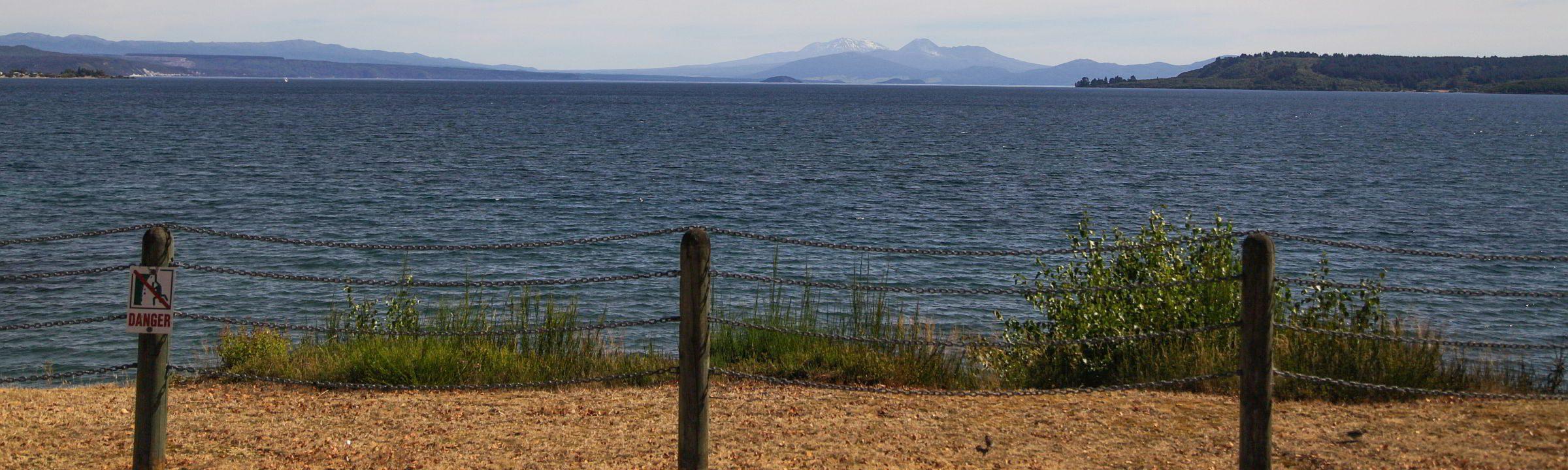 Lake Taupo und sein tosendes Ende