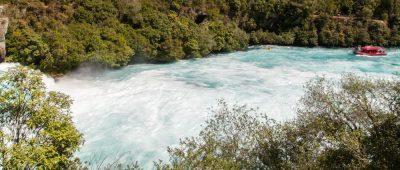 Nach den Huka Falls - ein ruhiger Waikato River