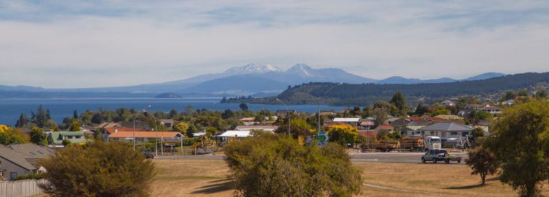 Ausblick auf den Lake Taupo