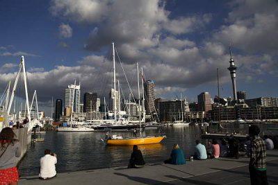 Der Hafen von Auckland