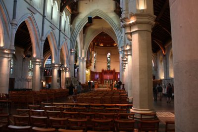 Blick in der Schiff der Kathedrale von Christchurch