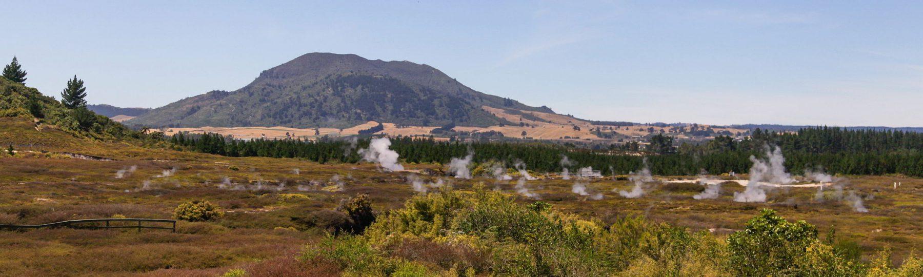 Vulkanlandschaft auf Neuseeland - Craters of the Moon Nordinsel