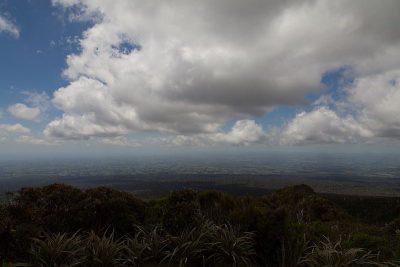 Ausblick auf die Ebene rund um Mount Taranaki