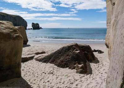 Tunnel Beach bei Dunedin