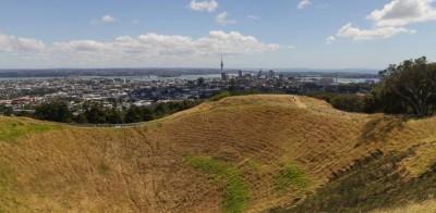 Ausblick von Mount Eden in Auckland