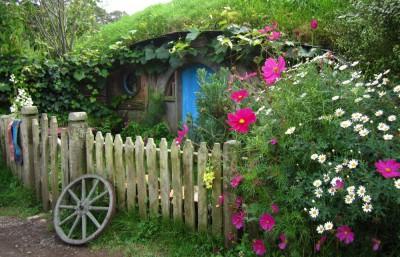 Eine Hobbit Behausung in Hobbingen
