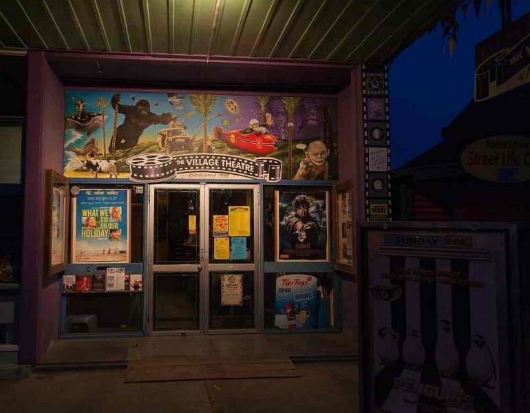 Das Kino in Takaka mit aktuellen Filmen