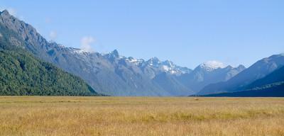 Ausblick auf Fiordland vom Milford Sound Highwa