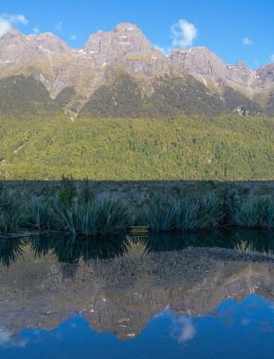 Mirror Lakes auf der SH94 Richtung Milford Sound