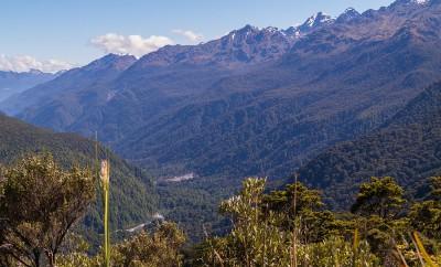Ausblick vom Key Summit Richtung Routeburn Track auf Neuseeland