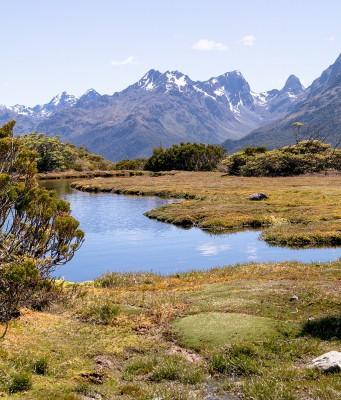 Key Summit Ausblick im Fiordland Neuseelands
