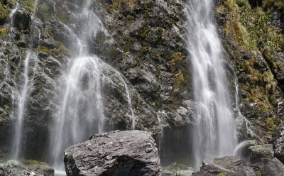Earland Falls auf dem Routeburn Track in Fiordland