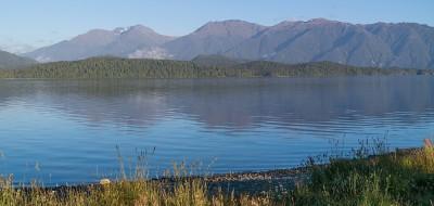 Blick auf den Lake Te Anau von der SH94