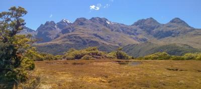 Ausblick vom Key Summit, Fiordland, Neuseeland