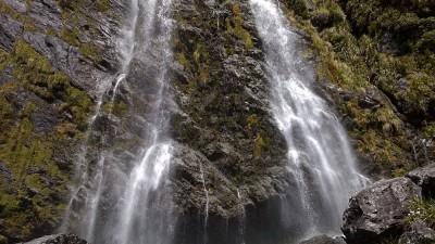 Earland Falls auf dem Routeburn Track, Fiordland