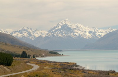 Der Weg zu Mount Cook