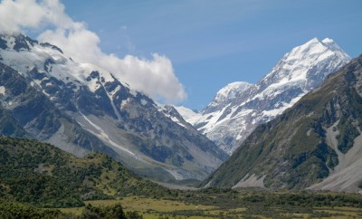 Mount Cook mit Hooker Valley