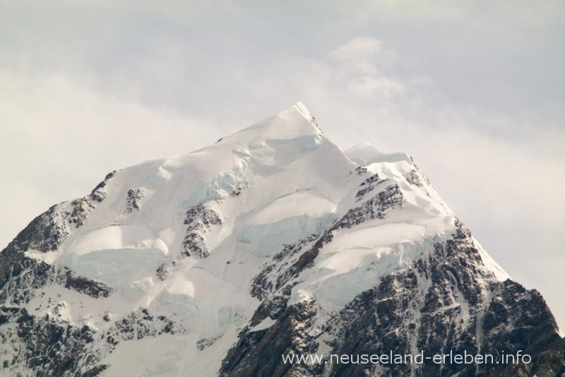 Die Spitze von Mount Cook