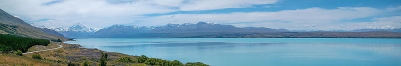 Lake Pukaki und im Hintergrund Mount Cook