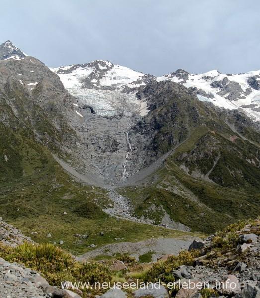 Gletscherzunge bei Mount Cook
