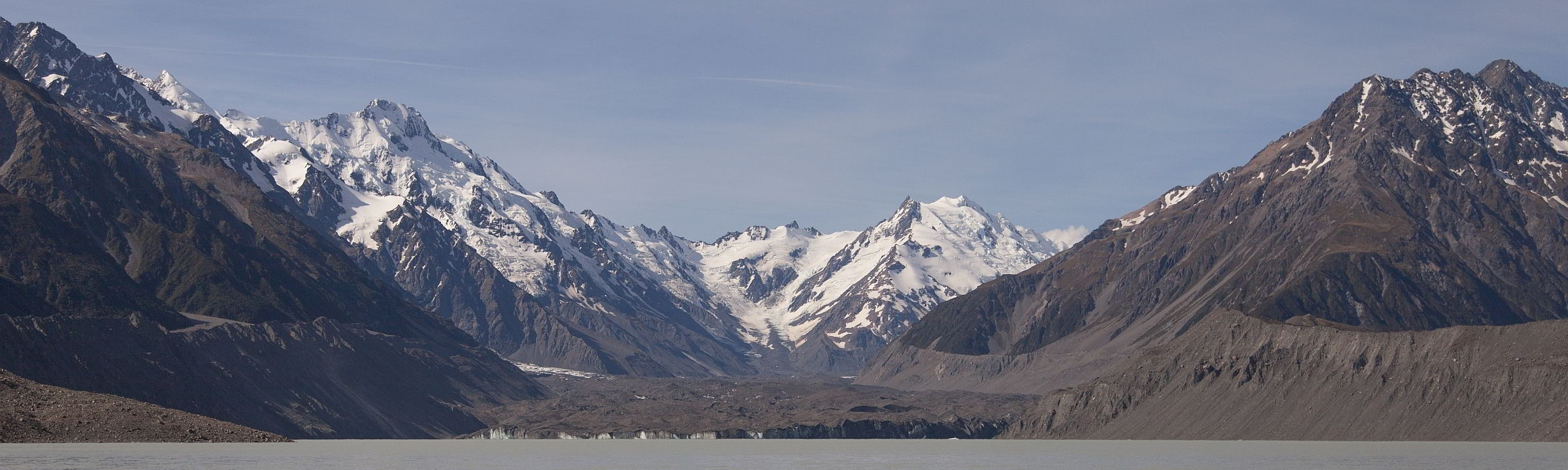 Tasman Lake – historische Suppe am Mount Cook