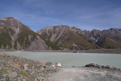 Tasman Lake in Neuseeland