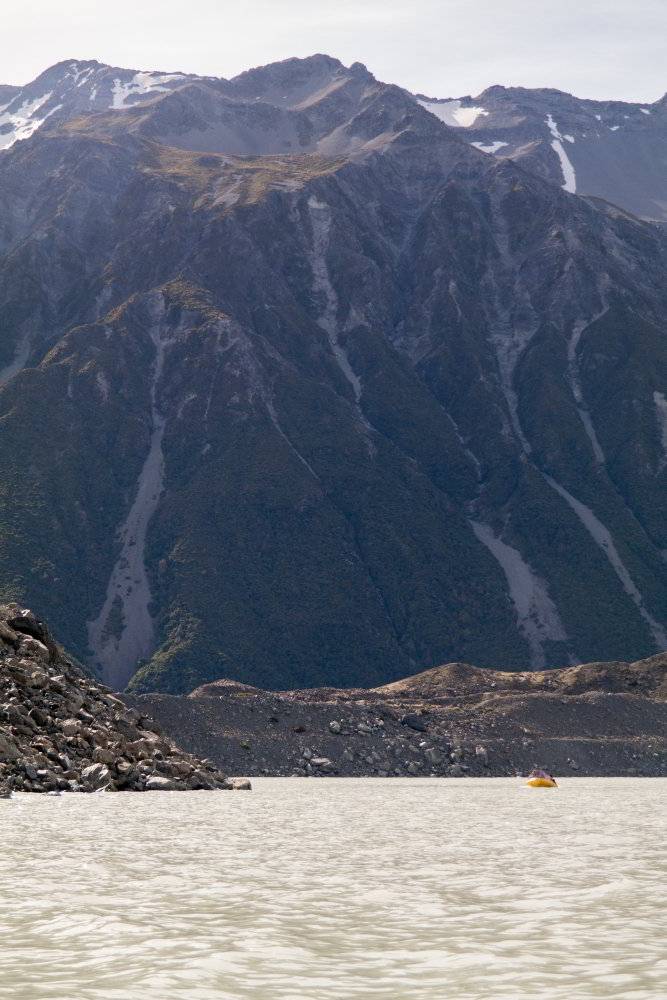 Geröllhänge am Tasman Lake
