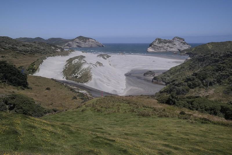 Blick zurück Richtung Wharariki Beach