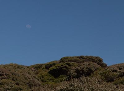 Mond über Neuseeland