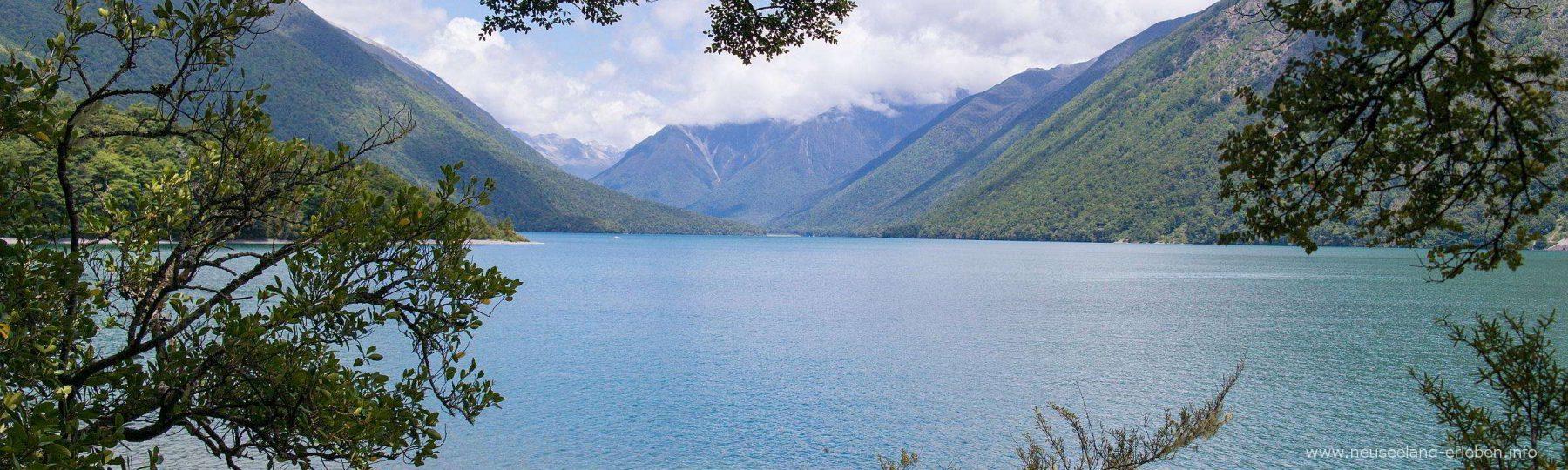 Blick über den Lake Rotoiti