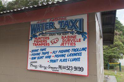 Braucht jemand ein TAxi`Lake Rotoroa Water Taxi