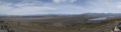 Panorama vom Mount John aus, rechts Lake Alexandrina