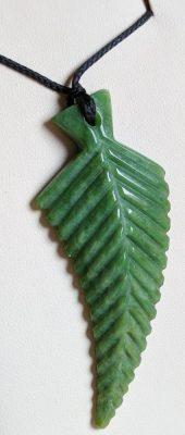 Farn-Wedel aus Jade